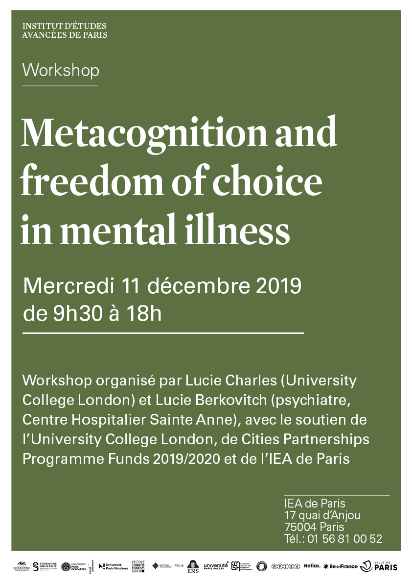 Metacognition And Freedom Of Choice In Mental Illness Institut D