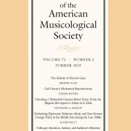 © 2019 by the American Musicological Society
