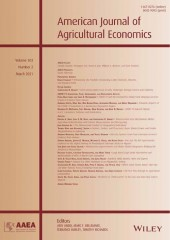 (c)  American Journal of Agricultural Economics